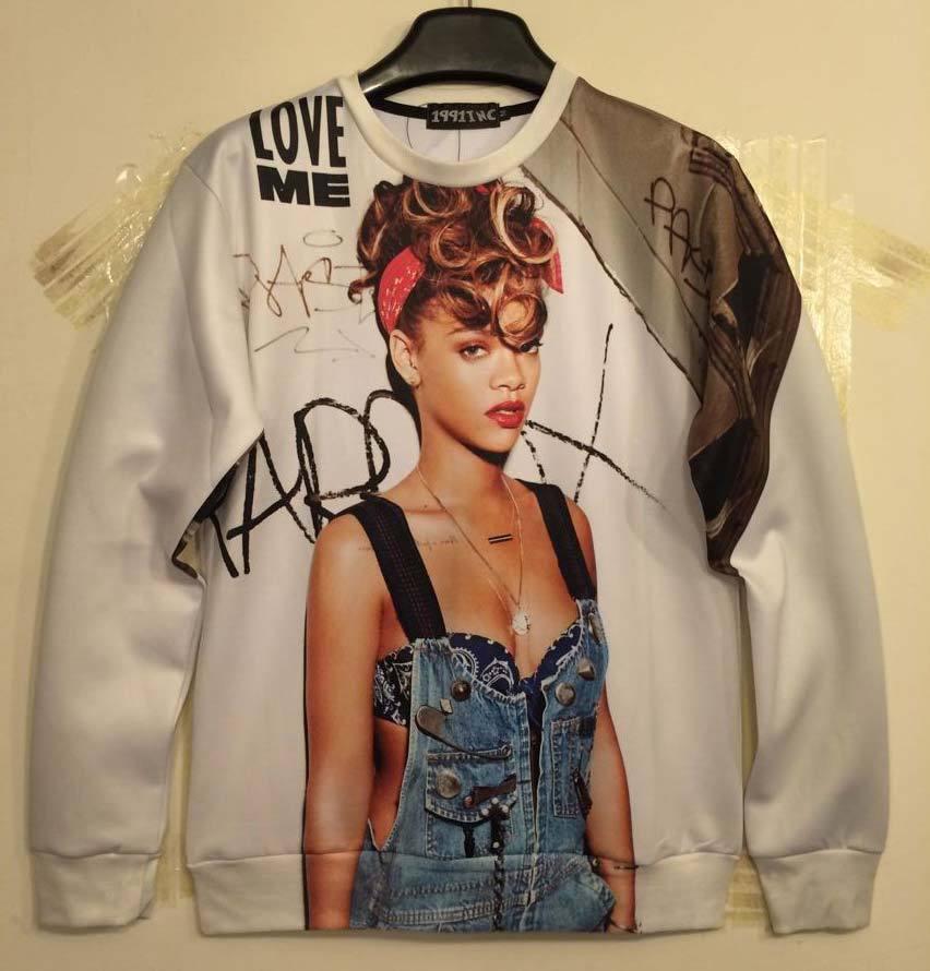 Mikeal New Autumn Winter fashion Women Men s 3d Sweatshirts print sexy lady Rihanna 3d