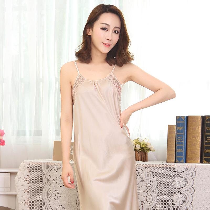 Elegant nightgowns for women pajamas Lingerie nightie Long satin ladies sexy Plus Size sleepwear princess nightdress SY001(China (Mainland))