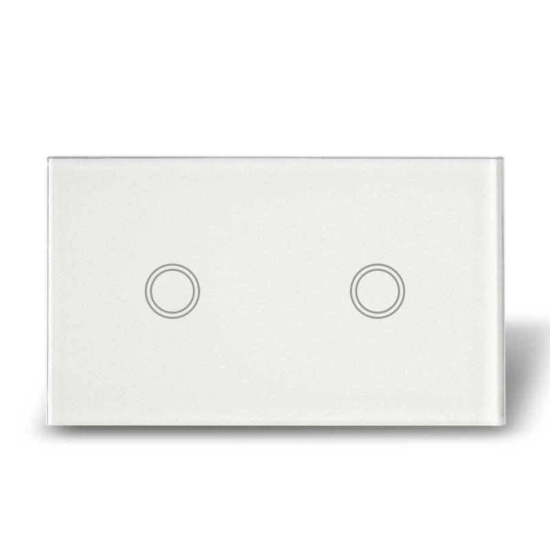 Настенный переключатель MakeGood Touch , 2 1 , ac110/240v MG-US02W настенный переключатель makegood led mg us rc12