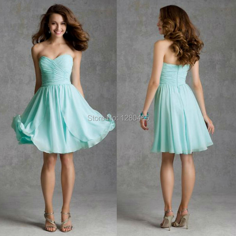 Luxury wedding dresses for young: Cheap bridesmaid dresses in mint