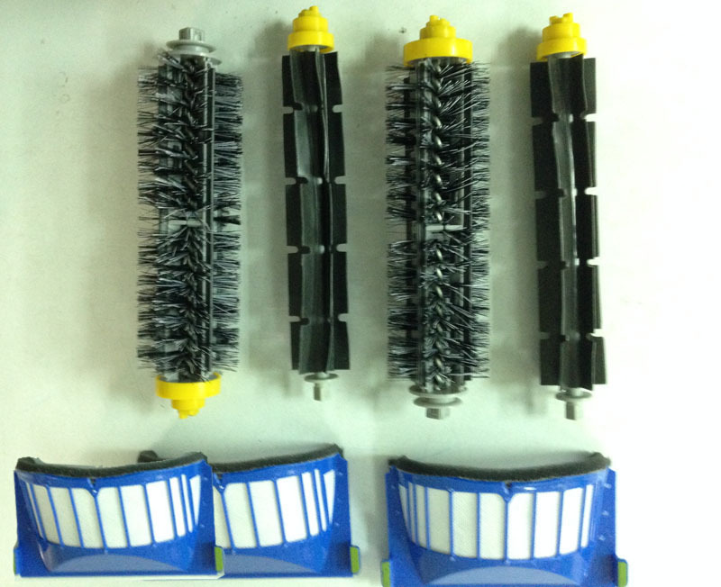 Free Shipping Replacement Filters & Brush for iRobot Roomba 600 Series 620 630 650 660 Vacuum Cleaner Parts #0143(China (Mainland))