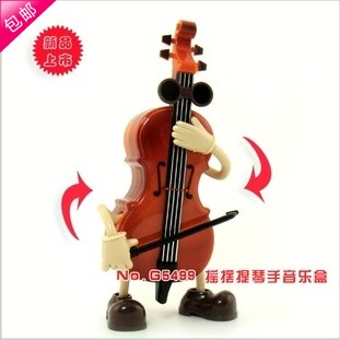 2014 new Ofdynamism cartoon violin romantic lovers music box birthday gift model - Online Store 937786 store