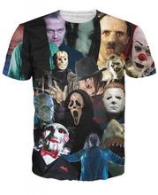 Harajuku Basic T men/women horror movie killer role Print 3d t shirt Summer Sportswear Jumper plus size S-XXL