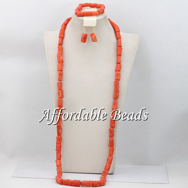 Pink Bridal Beads Nigerian Set Simple African Coral Jewelry Set Wholesale Handmade Design CN122(China (Mainland))