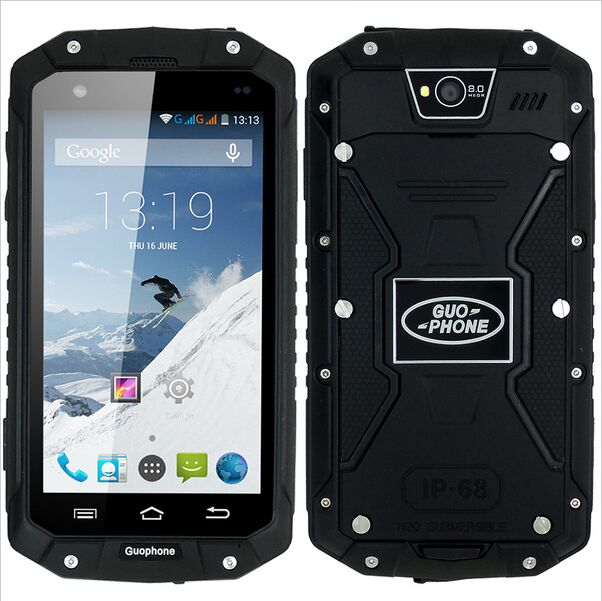 """Original guophone V9 IP68 Rugged Waterproof cell Phone MTK6572 Android 4.4 4.5""""IPS 512MB+4GB WCDMA 3G mobile Phone ( discovery )(China (Mainland))"""