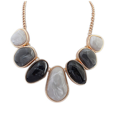 Brand designer Exaggerated punk Geometry big gem bib necklace Colorful Stone Pendant Statement jewelry for women 2014 M14
