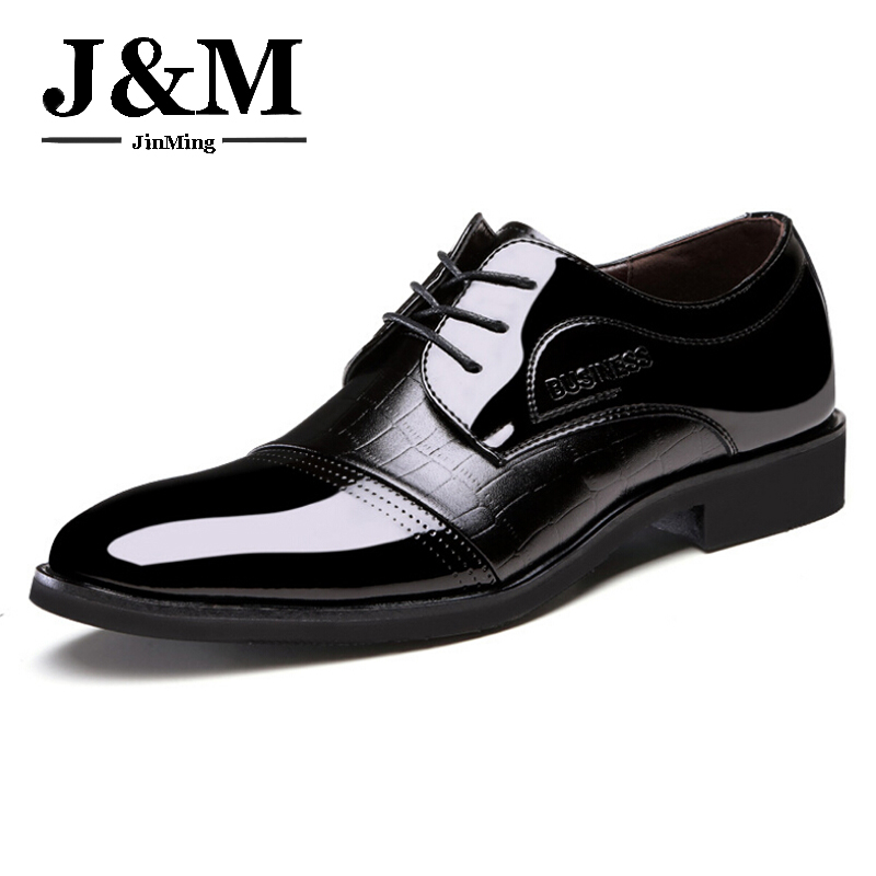 Men's sports shoes fashion oxford black first layer of skin toe toe shoes wedding shoes shiny lace man
