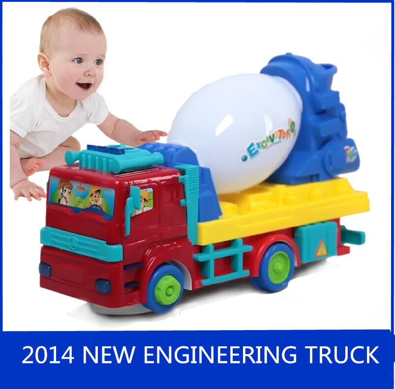 Engineering Toys For Boys : Baby puzzle electronic engineering toys mixer truck
