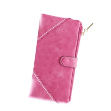 New Fashion Women Leather Wallet Button Clutch Purse Lady Long Handbag Wallets Gift B2C Shop