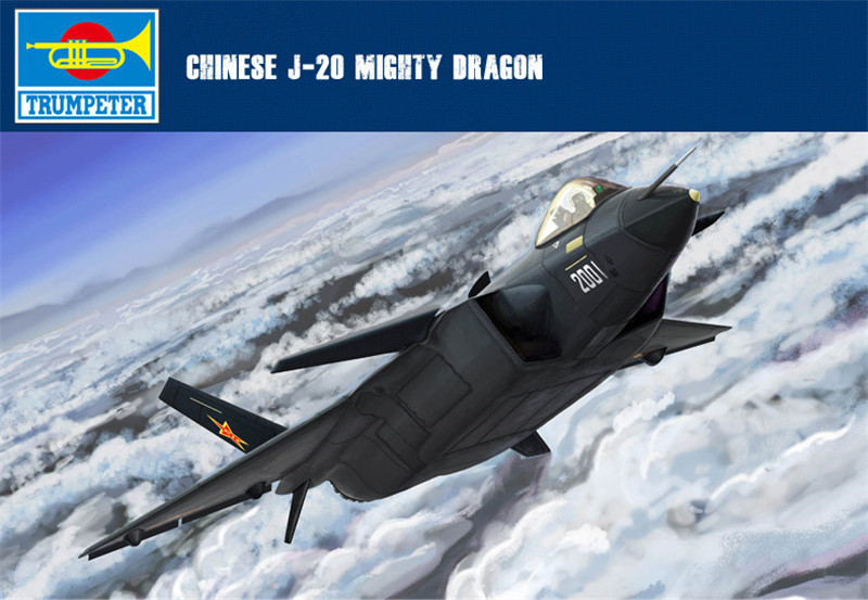 Trumpeter 1/144 Scale Chinese J-20 Mighty Dragon Stealth Fighter Aircraft Plastic Assembly Military Models 03923(China (Mainland))