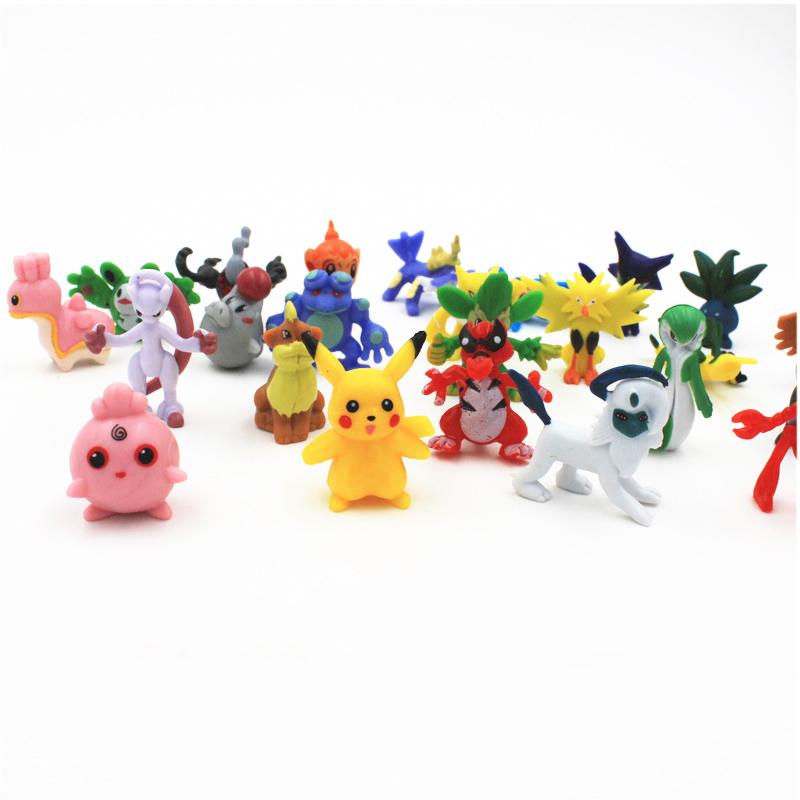 24pcs/set pokemon figures cute monster minifigure random combination figure 2016 hot action figure toy(China (Mainland))