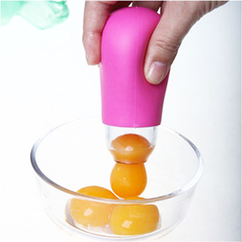 Convenient DIY Kitchen Gadget Silicone Egg Yolk White Suction Separator Divider Filter #62800(China (Mainland))