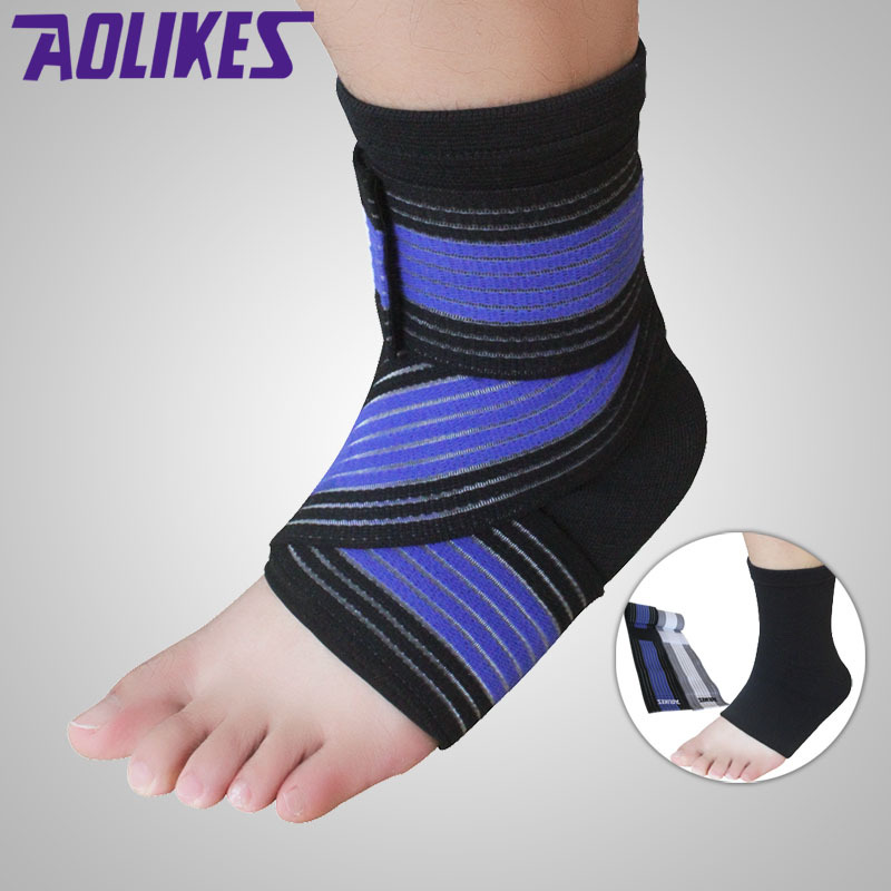 AOLIKES 2Pcs /Lot Professional Sports Ankle Strain Wraps Bandages Elastic Ankle Support Brace Protector For Fitness Running(China (Mainland))