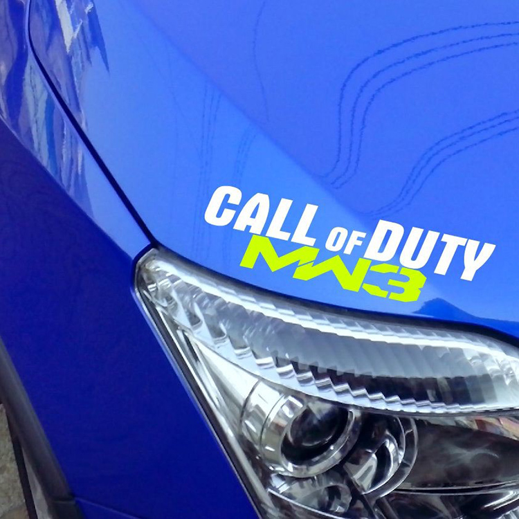 Hot sale Modifie car / Motorcycle stickers call of duty MW3 colorful sticker suit for any car(China (Mainland))