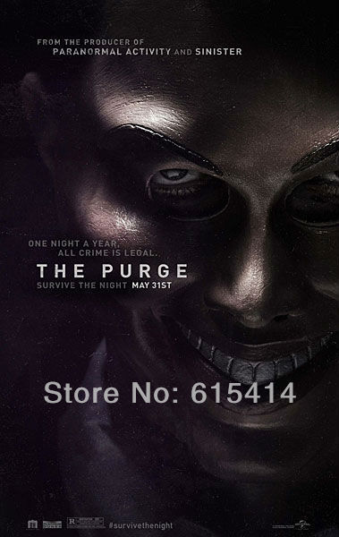 "01 The Purge 2013 movie 14""x22"" inch wall Poster with Tracking Number"
