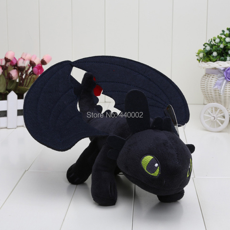 10PCS/LOT 9'' 20CM Anime How to Train Your Dragon Toothless Night Fury Plush Doll Stuffed Toy Christmas Gifts For Children(China (Mainland))