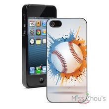 Baseball Splat Protector back skins mobile cellphone cases for iphone 4/4s 5/5s 5c SE 6/6s plus ipod touch 4/5/6