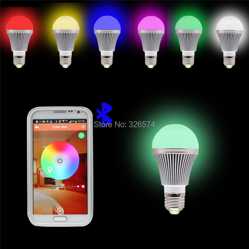 New Arrival Bright RGB Wireless Bluetooth Smart LED Light Bulb for Android and for iOS