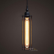 AC100-240V Retro T30 Edison bulb Pendant lamps Restaurant aisle Bar punk vertical Alcatraz chandeliers hanging lamps(China (Mainland))