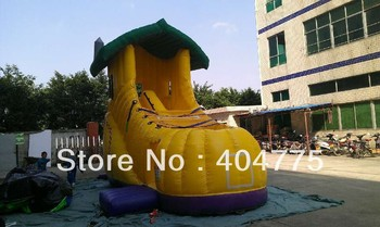 commercial grade inflatable shoe slide+free carry bag+free CE/UL air blower