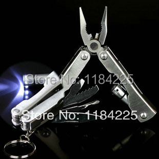 Camping Multifunction Tools LED lamp Phoenix-pliers Creative Outdoor Knives pliers Mini foldingGet nylon sleeve Mountain bike(China (Mainland))