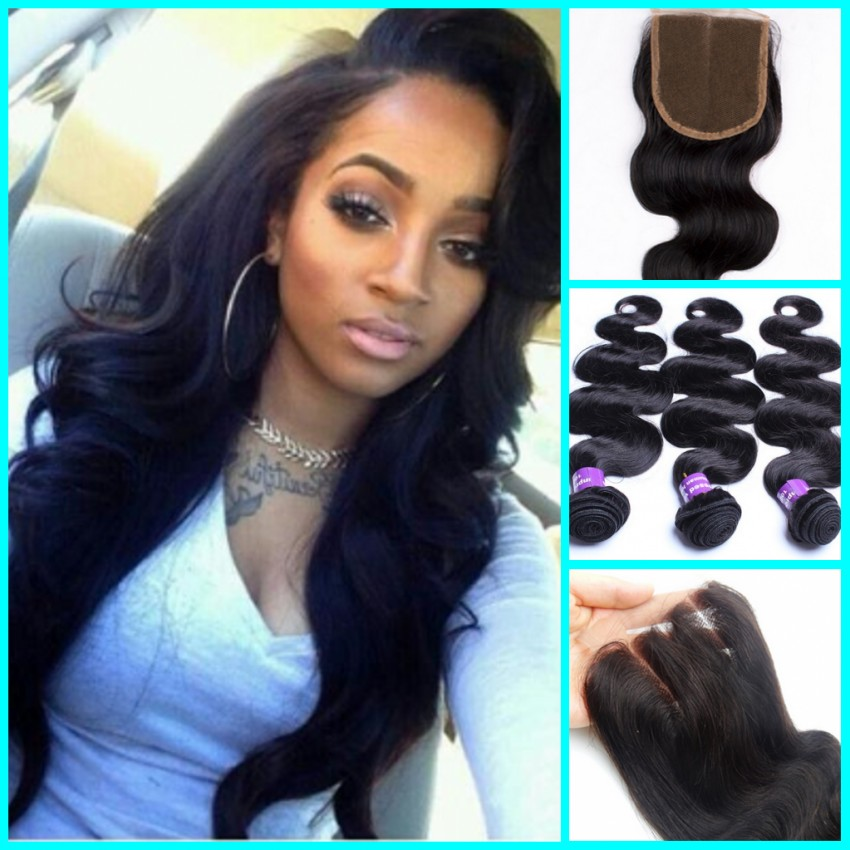 Peruvian Hair With Closure 7A Peruvian Body Wave With Closure 3 Bundles With Closure  Hair Bundles With Lace Closure