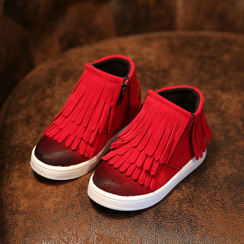 Kids Trainers Baby Shoes Girls Boys Boots 2016 Rubber Boot Baby Fashion Sport Shoes Superfly Original Tassel Shoes Comfortable(China (Mainland))