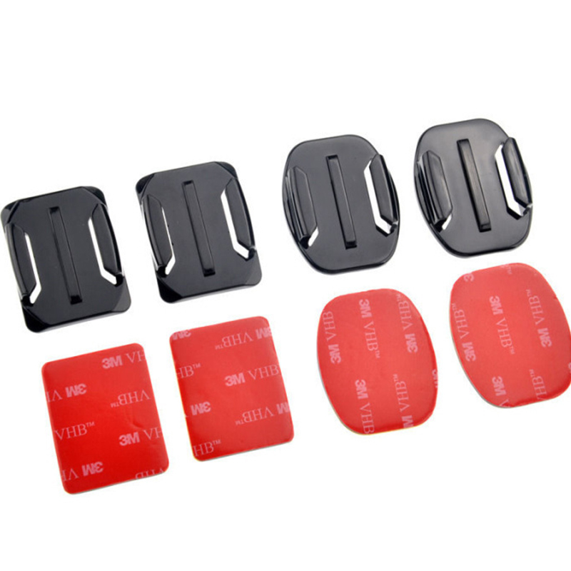 Accessories For GoPro Hero3 3 2 SJ4000 flat arcwith 3M glue eight pieces xiaomi yi motion