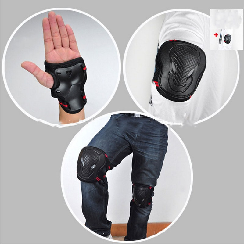 6pcs/Set Sports Safety Set Knee Pads Elbow Pads Wrist Protector Kneecap Kneepads Protection for Scooter Cycling Roller Skating(China (Mainland))