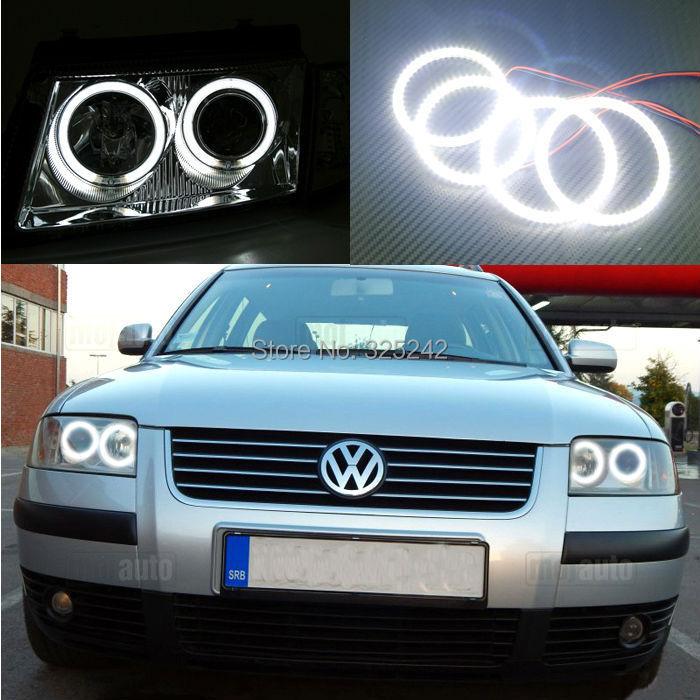 For Volkswagen VW Passat B5.5 2001 2002 2003 2004 2005 Excellent smd led Angel Eyes Ultrabright illumination led Halo Ring kit(China (Mainland))