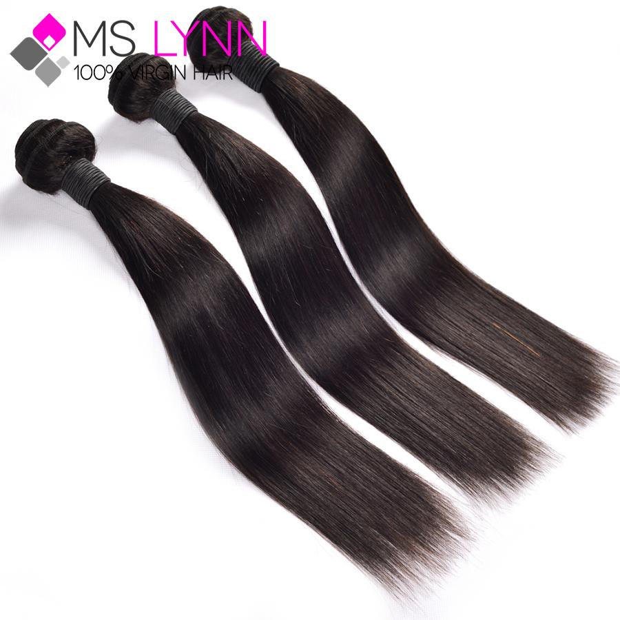 7A Russian virgin hair straight bundles 3pcs lot unprocessed virgin russian hair extensions mslynn hair remy human hair weave(China (Mainland))