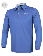 2016 spring autumn long-sleeve Golf shirts men golf poloing shirts casual t-shirt elastic outwear men's golf clothing sportwear(China (Mainland))