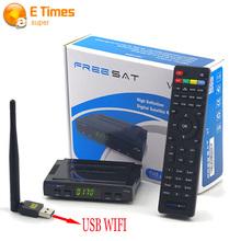 Freesat V7 HD Support Cccam Newcam Satellite Reciever add 1 Pc USB Wifi DVB-S2 Support PowerVu Biss Key V7 HD Satellite Receiver