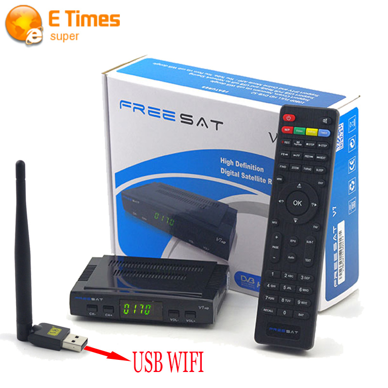 Freesat V7 HD Support Cccam Newcam Satellite Reciever add 1 Pc USB Wifi DVB-S2 Support PowerVu Biss Key V7 HD Satellite Receiver(China (Mainland))