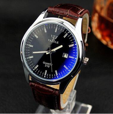 Quartz Watch Men Fashion Models Blue Waterproof Quartz Watch Luminous Watch Boutique Business Calendar 2016 LZ593(China (Mainland))
