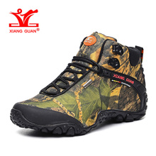 XIANGGUAN Man Hiking Shoes for Men Fashion Athletic Trekking Boots Camo Zapatillas Sports Climbing Shoe Outdoor Walking Boot