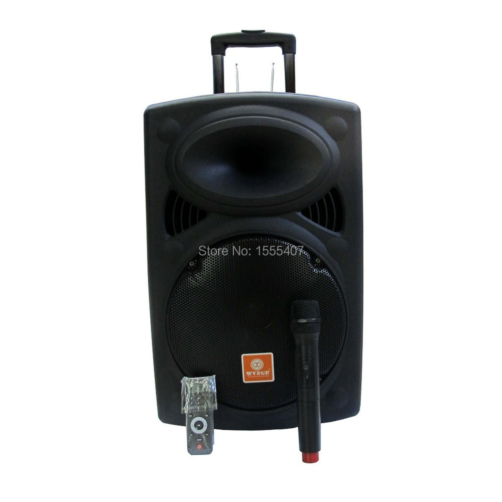 WG-15 Portable Wireless PA Amplifier with Super sound USB slot SD card and blue tooth(China (Mainland))