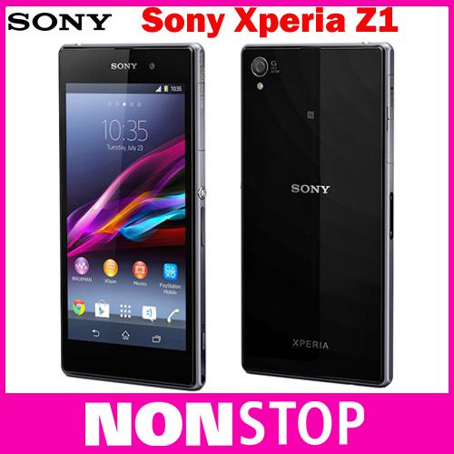 Original desbloqueado Sony Xperia Z1 L39H C6903 Mobile Phone 16 GB Quad core de 3 G e 4 G GSM WIFI GPS 5.0 '' 20.7MP telefone celular(China (Mainland))