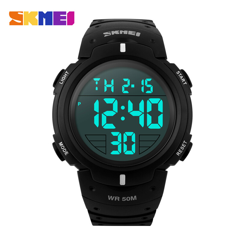 SKMEI Oversized Fashionable Casual Men Wristwatches Digital Waterproof LED Watch Outdoor Multifunctional Student Sports Watches(China (Mainland))