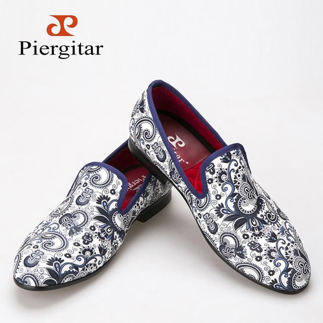 Piergitar 2016 Новый стиль кешью цветы ткани отпечатки мужчины туфли китайский стиль ...