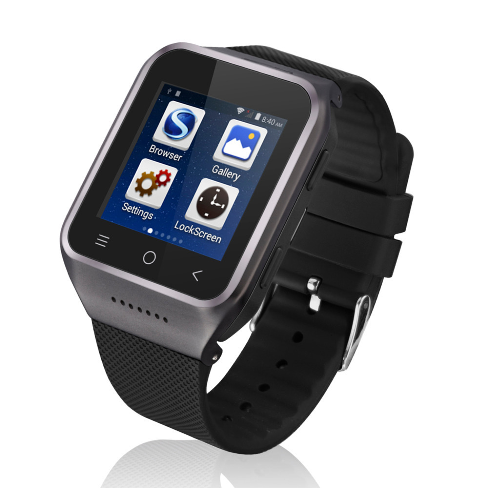 ZGPAX S8 1.54 Inch 3G Android 4.4 MTK6572 Dual Core Phone Watch 2.0MP Camera WCDMA GSM Smart Watch With Email GPS WIFI(China (Mainland))