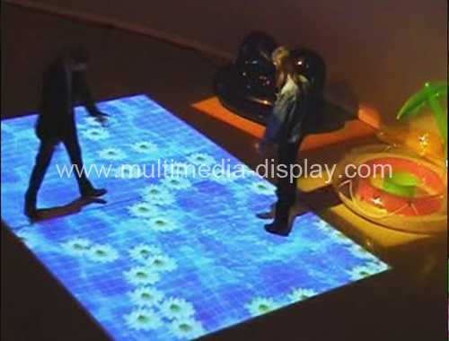 Interactive floor software and necessary hardware for advertising shopping center exhibition party(China (Mainland))