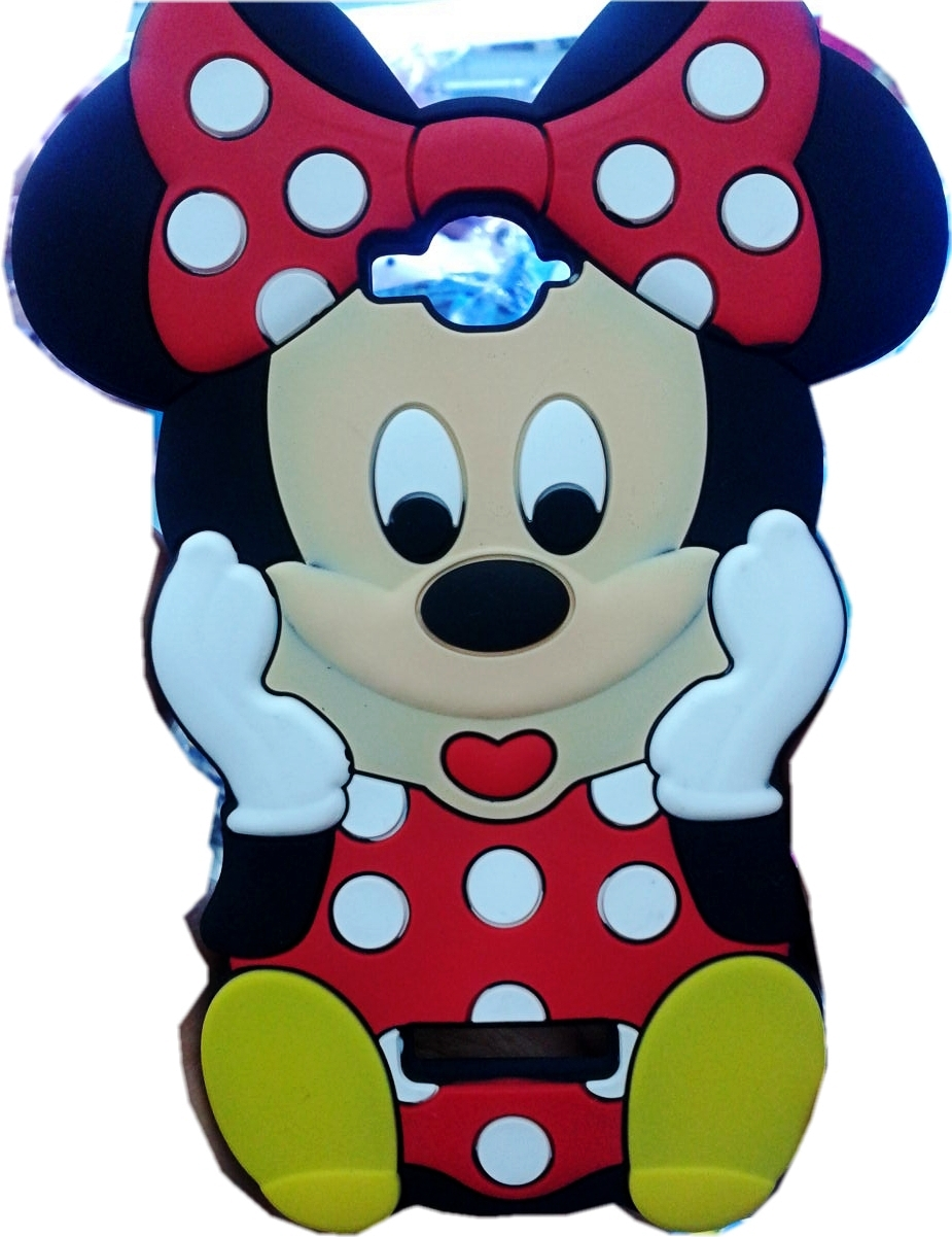 Cute 3D Cartoon Red Bow Minnie Mouse Soft Silicone Back Cover Case Alcatel One Touch POP C7 7047 7040D - Made In China Centre store