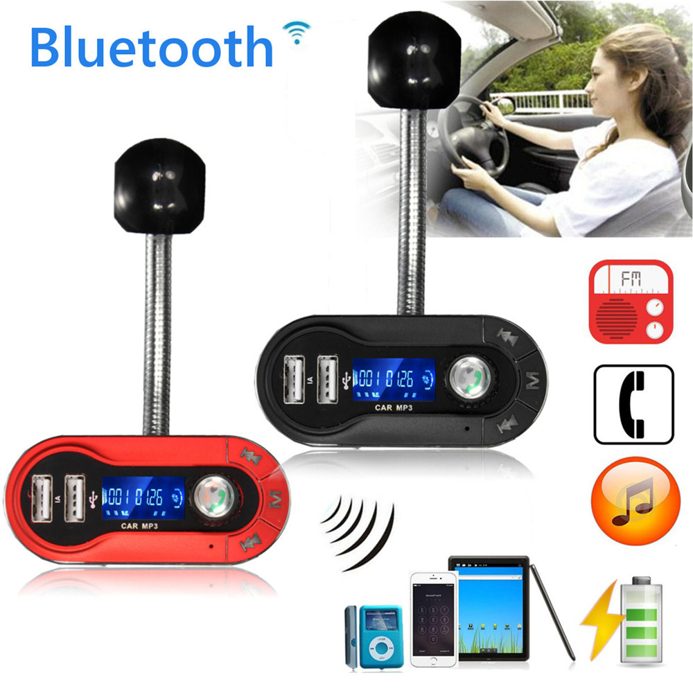 New 5V/ 2.5A LCD Wireless Bluetooth FM Transmitter MP3 Player TF Car Kit Charger Support for USB disk TF /MMC/ SD card player.(China (Mainland))
