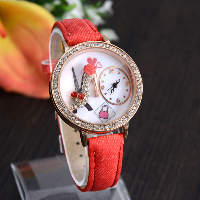 2015 beautiful women high heels watches, noble elegant new leisure watches, business watches the tide of fashion.(China (Mainland))