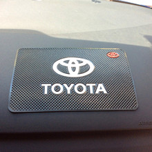 Free shipping car anti slip mat Dashboard pad for TOYOTA Corolla Camry Vitz Highlander CROWN RAV4 REIZ Prado LAND CRUISER Venza(China (Mainland))