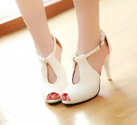 New 2015 Sexy Women Sandals High Heeled Summer Single Shoes Fashion Design Female High Heels Party Shoes Plus Size 34-43 YN