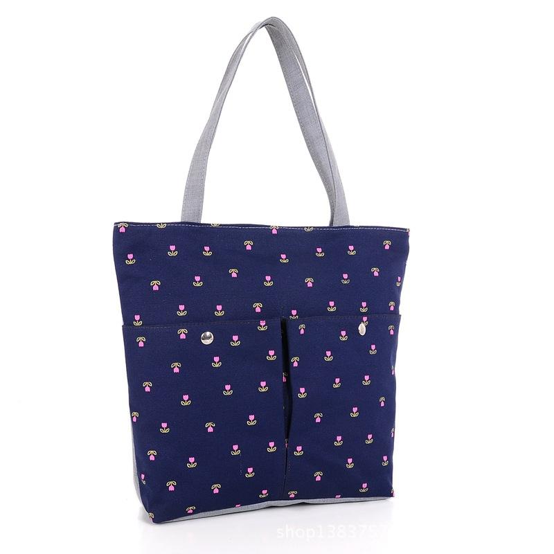 High Quanlity Canvas bag Fashion Flower Printing women shoulder bag Big Capacity Tote multifunction Mom Bag Baby Bag Diaper Bags<br><br>Aliexpress