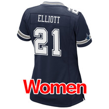 Women's #4 Dak Prescott #21 Ezekiel Elliott #50 Sean Lee 88 Dez Bryant 82 Jason Witten #9 Romo Light Game Stitched Logos(China (Mainland))