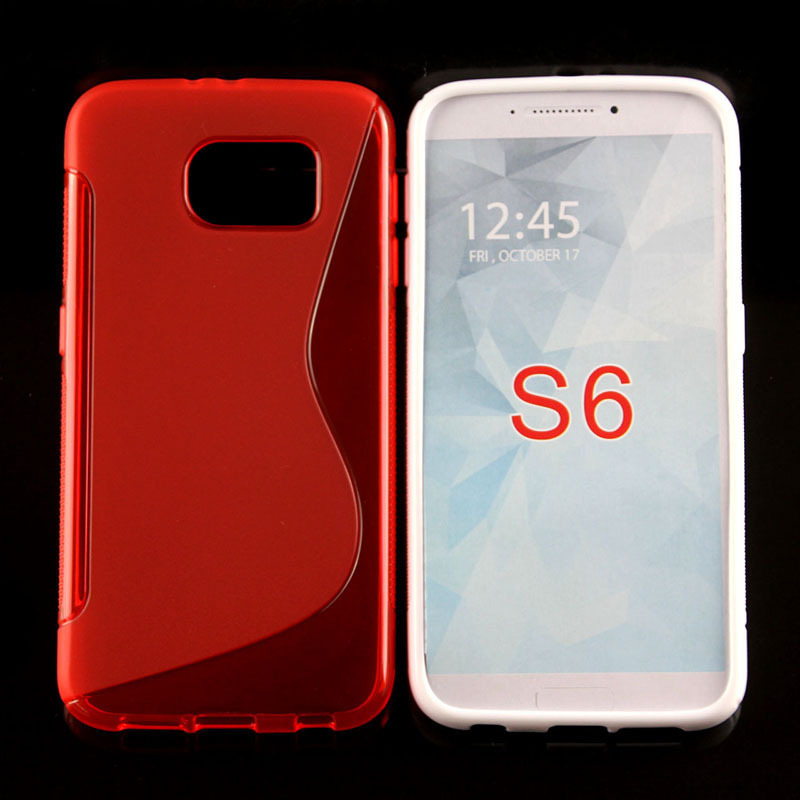 20 DHL Free 2015 New Soft TPU Gel S line Skin Cover Case Samsung Galaxy S6 G920 5.1 inch